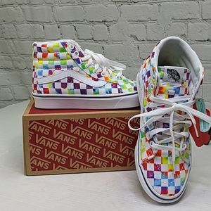 NWT Vans Comfycush tie-dye checker sneakers